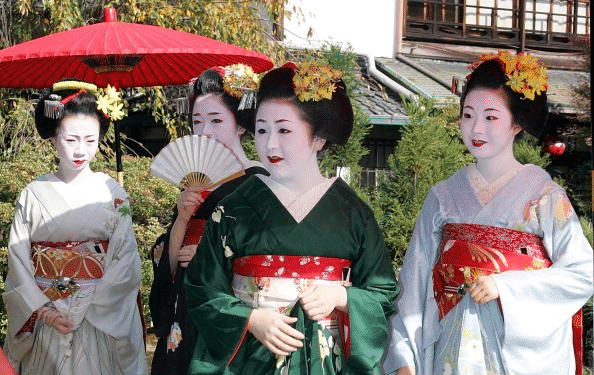 Maiko standing in the garden