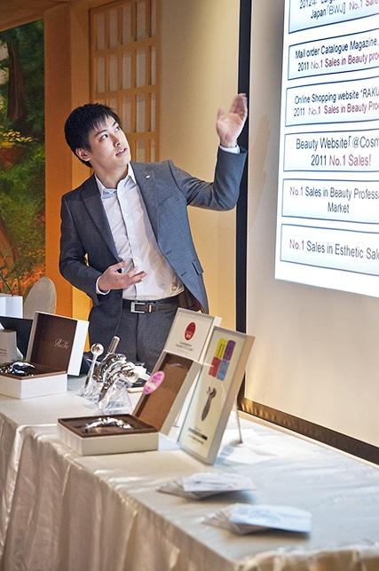 ReFa executive presenting at Ikeda Spa japanese skincare workshop