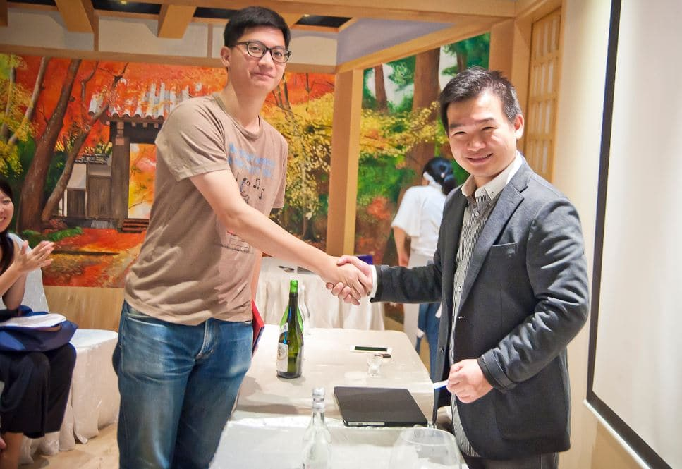 Lucky winner that won the Sake !