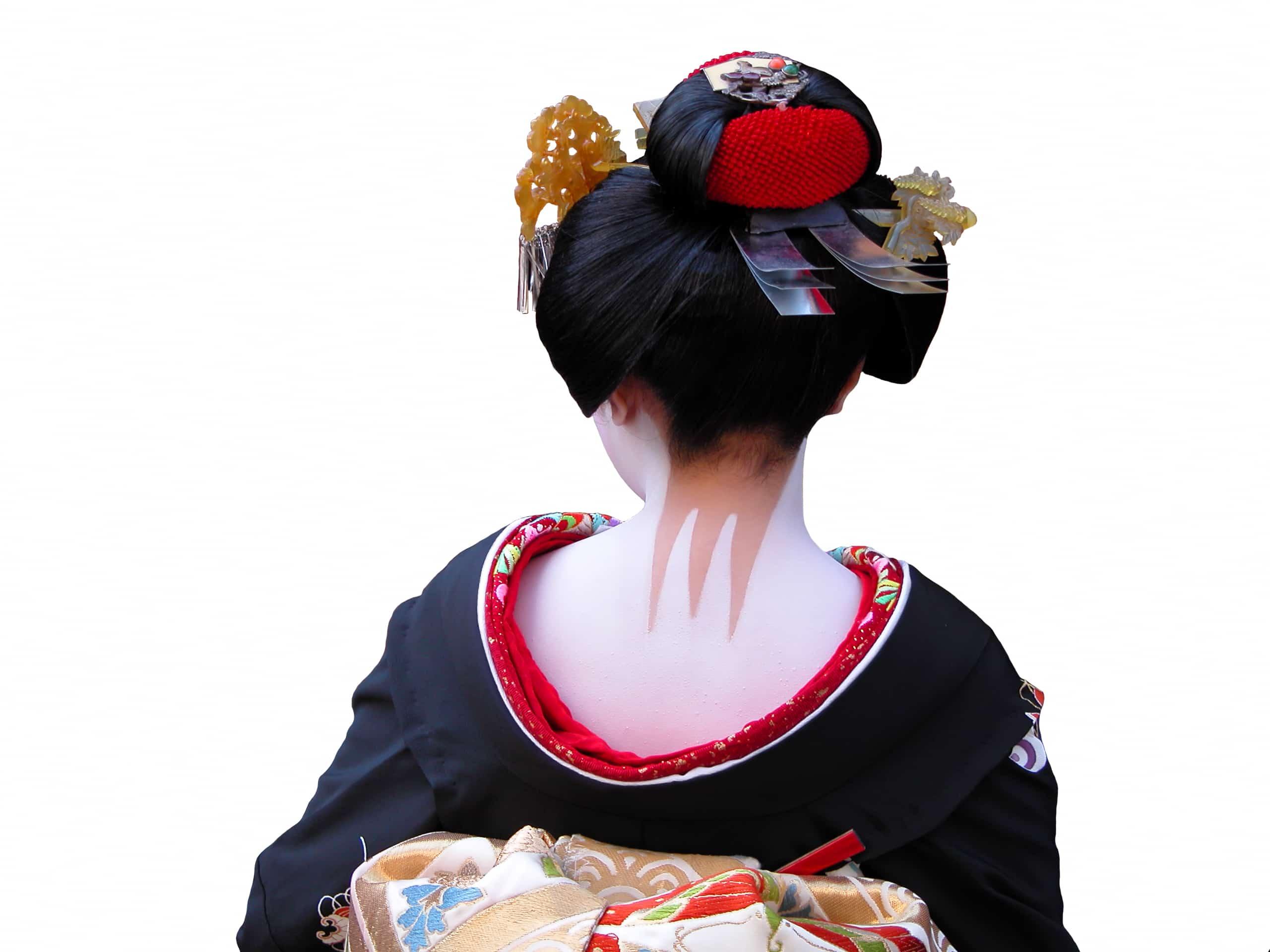 geisha hair neck