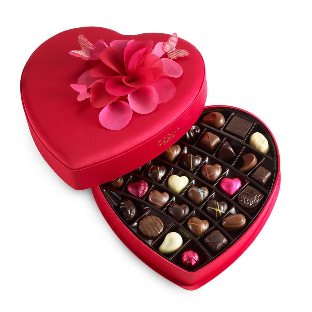 heart shape box chocolates