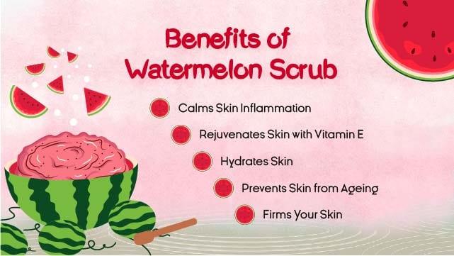 summer spa promo - watermelon scrub benefits