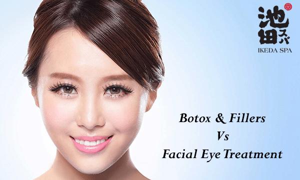 Botox n Fillers Vs Facial Eye treatment Banner