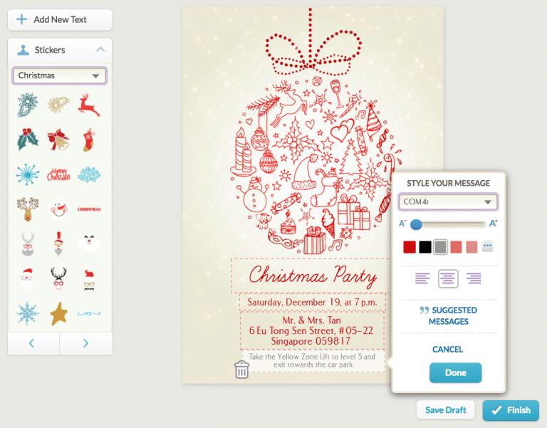 Christmas e-invitation