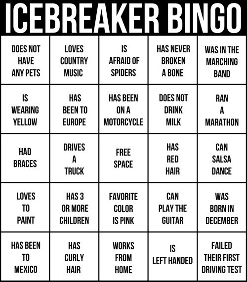 Ice breaking game