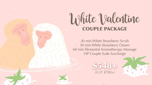white valentine couple spa package 2021