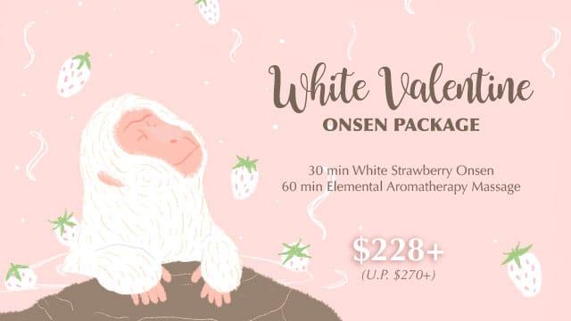 white valentine onsen spa package 2021
