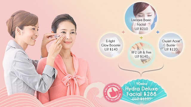 facial promotion - oxygen facial - CTA banner