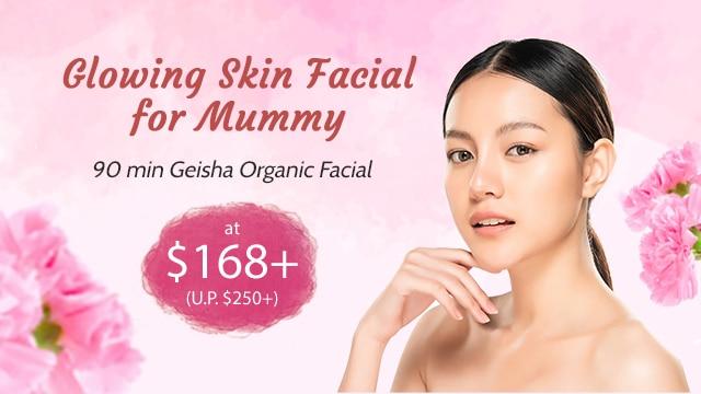mother's day spa - geisha organic facial