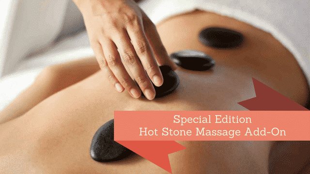 father's day spa gift - hot stone benefit