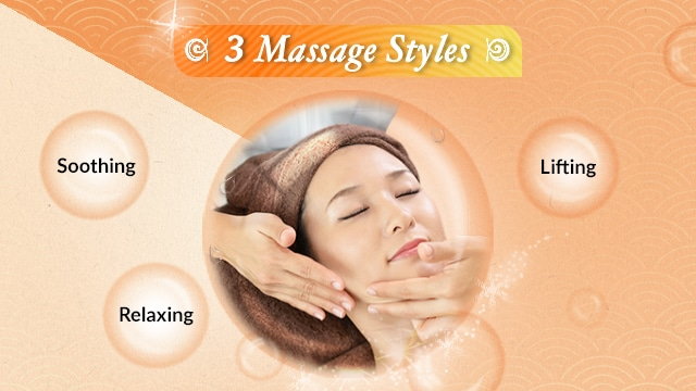 facial promotion customised facial - massage style
