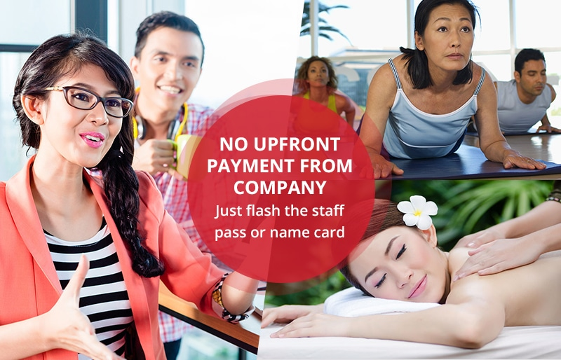 Corporate Wellness - No Upfront Payment From Company - Just flash staff card or name card