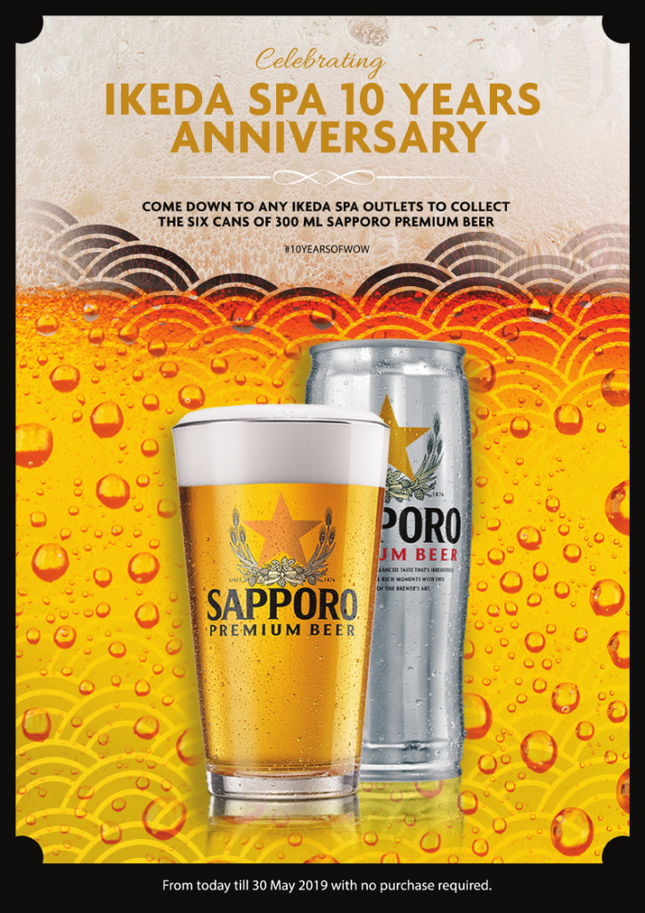 Free Beer - Celebrating 10 Years with Ikeda Spa