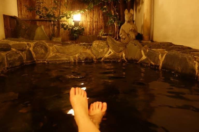 onsen singapore - Soaking in Onsen Bath POV